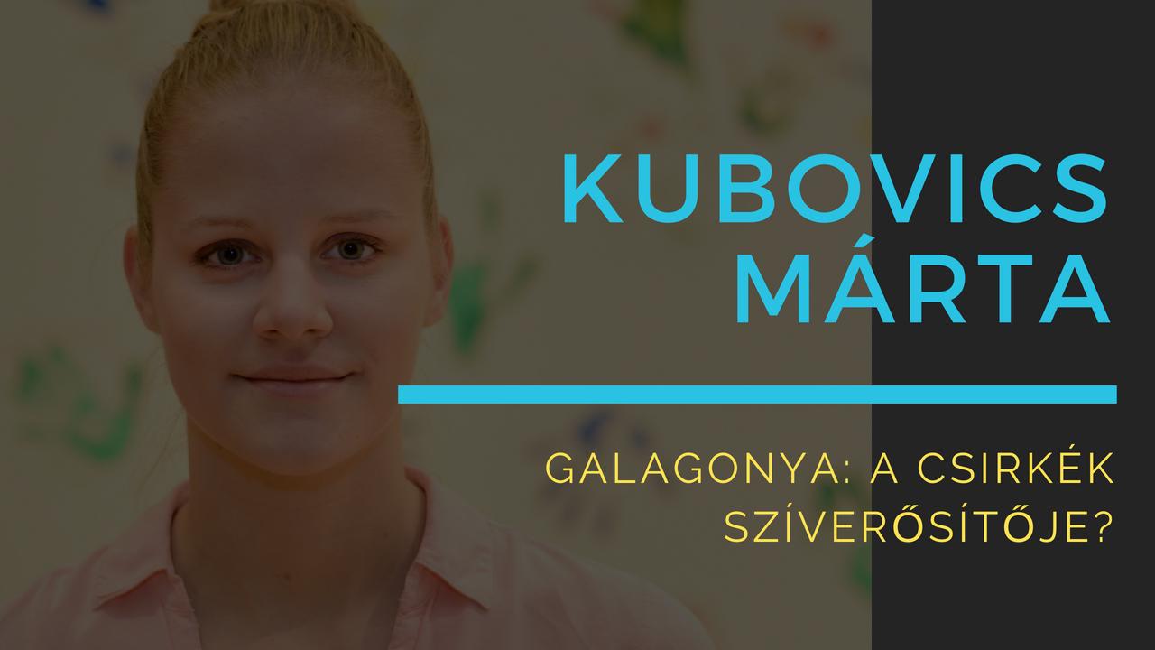 Kubovics Márta Galagonya: a csirkék szíverősítője?